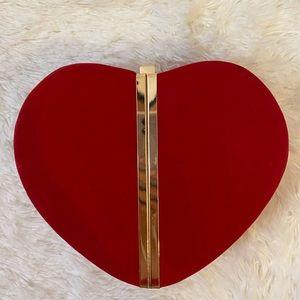 Velvet Heart Clutch